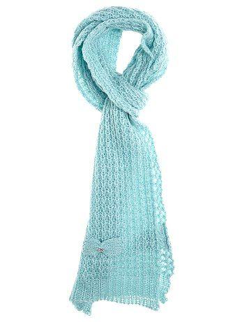 Sciarpa maglia grossa fiocco fantasia                                                                                              ...