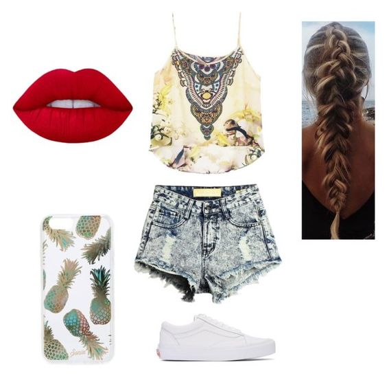 """""""💞"""" by tiaaarnaxo ❤ liked on Polyvore featuring Vans, Lime Crime and Sonix"""