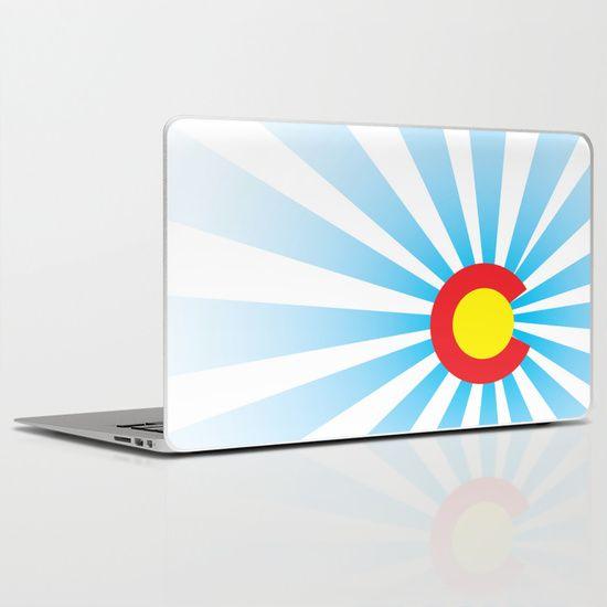 Colorado Sunrise Laptop Skin found out Society6.com # DURANGO #COLORADO #COLORADOBORN #COLORADOPRIDE #CO #COPRIDE #TANKTOP #MENSCLOTHING #WOMENSCLOTHING #GRAPHICDESIGN #DESIGN