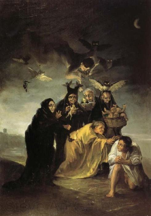 The Spell by Francisco Goya  O feitiço de Francisco Goya: