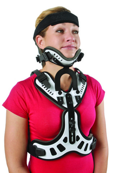 The Cybertech Minerva Orthosis Is Similar To A Halo Brace
