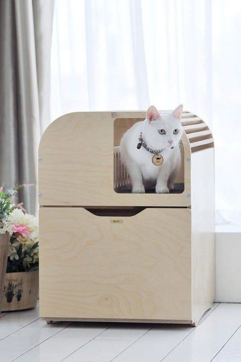 34 Things That Might Make You Think Is This The Future In 2020 Modern Pet Furniture Modern Cat Furniture Litter Box Furniture