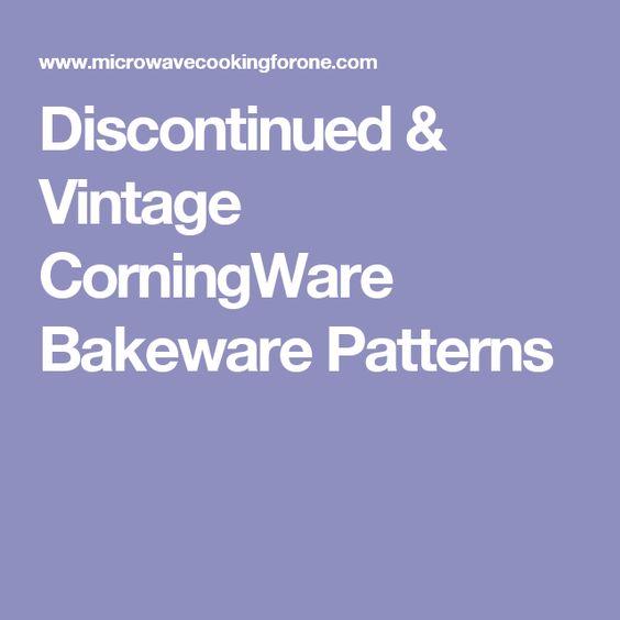 Discontinued Vintage Corningware Bakeware Patterns Corningware Pyrex Patterns Corningware Bakeware