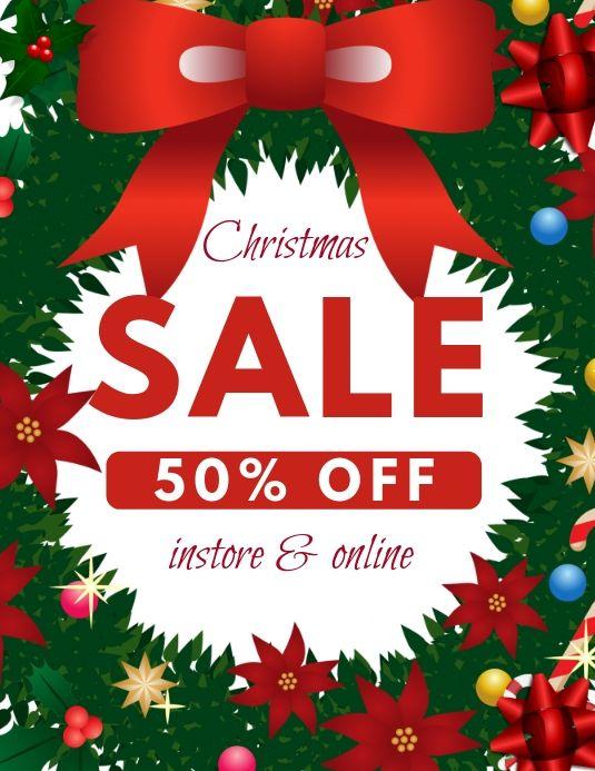 Christmas Sale Template Christmas Christmas Templates Christmas Sale