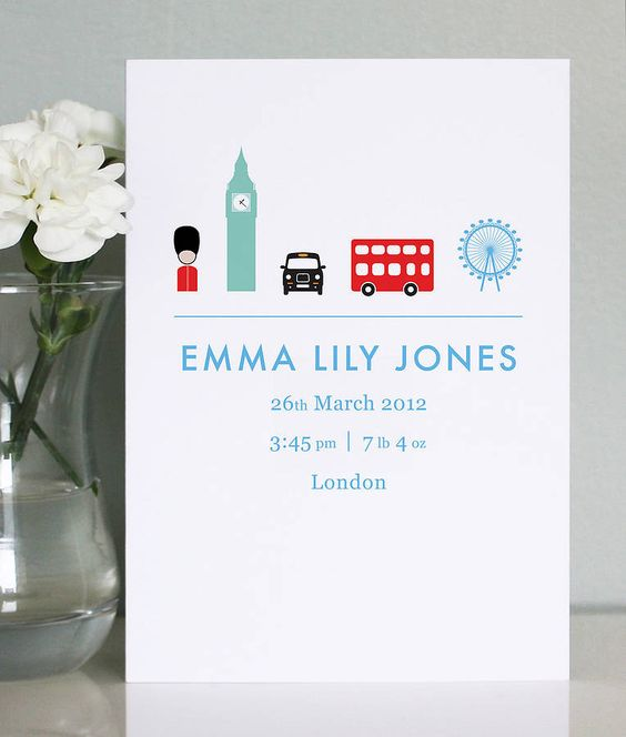 25 Personalised Birth Announcement Cards – Birth Announcment Cards