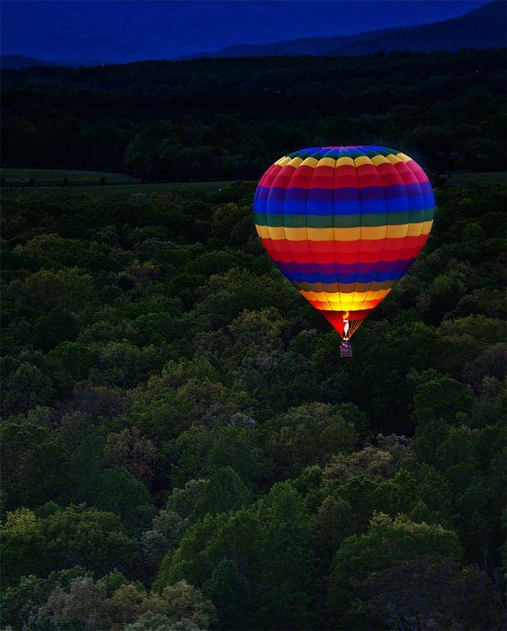 Night Flight #balloon #colorful