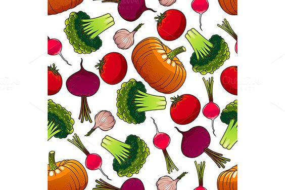 Organic farm harvest pattern by @Graphicsauthor