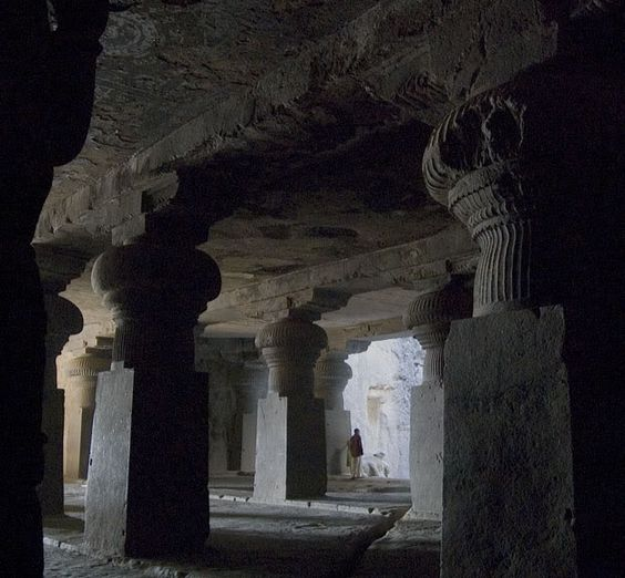 Ellora Caves, an archaeological site, in the Indian state of Maharashtra, built by the Rashtrakuta dynasty between the 5th century and 10th century.