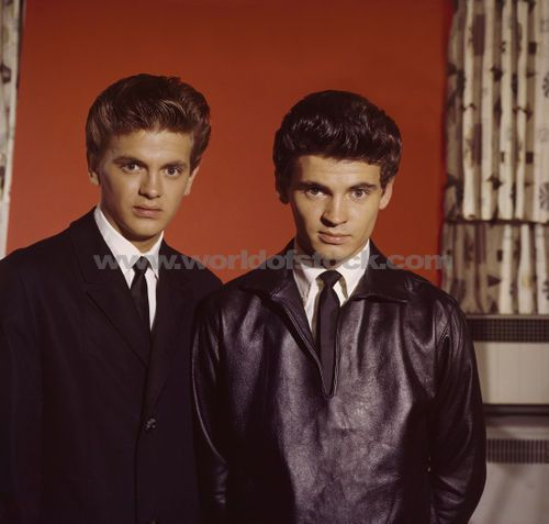 Everly Brothers Phil left and Don right