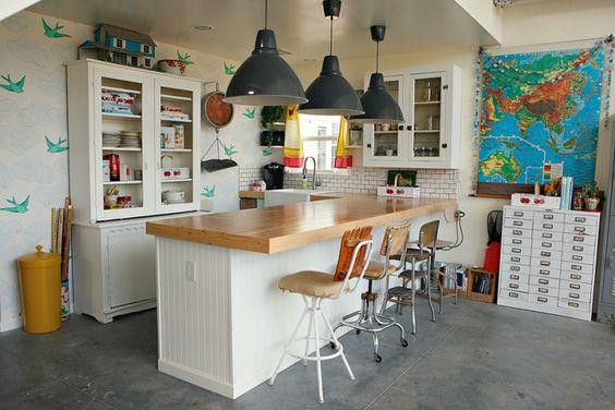 Keukenaanrecht Materiaal : Studio kitchen, Kitchens and Wallpapers on Pinterest