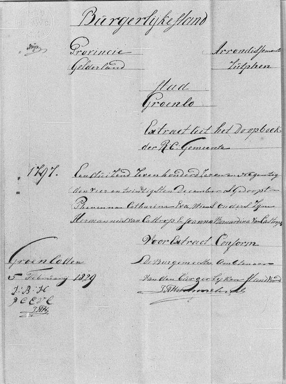 Catherine van Castrop baptism 1797 image 401 #genealogy #familyhistory
