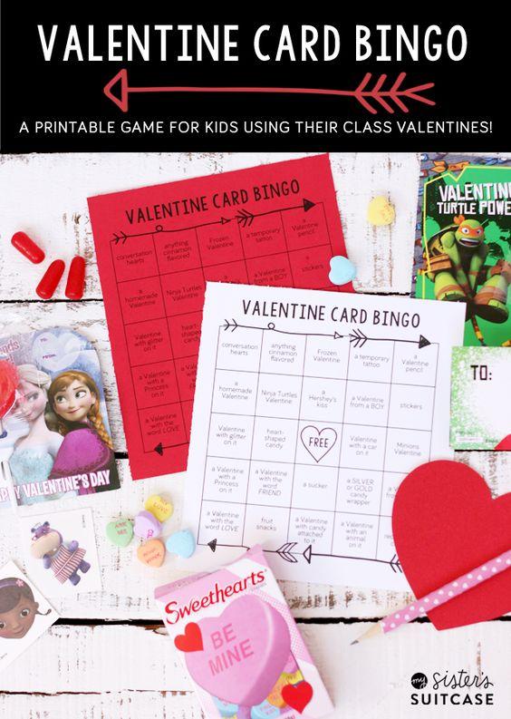 Printable Valentine Card Bingo