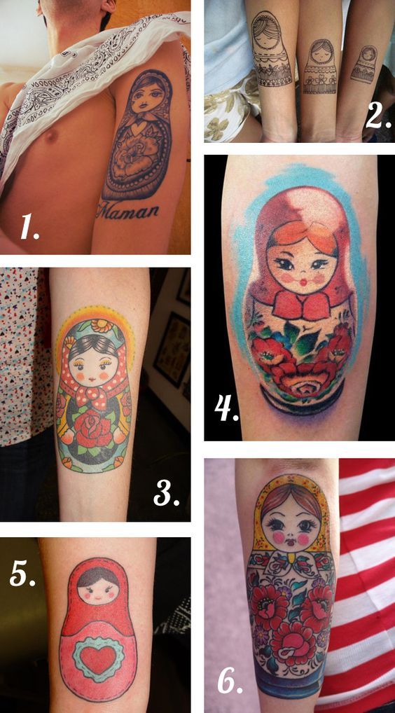 russian doll tattoo design | Tattoo Tuesday // Russian Dolls – VeneciaDesigns