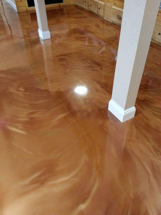 Metallic Epoxy Floor Coating Myrtle Beach Sc Job Metallic Epoxy Floor Epoxy Floor Concrete Decor