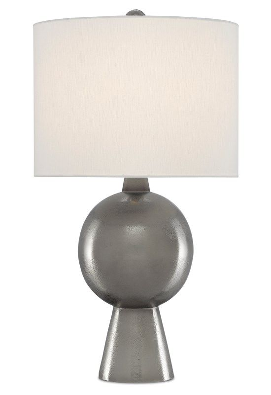 Currey And Company In 2020 Nickel Table Lamps Table Lamp Black Table Lamps