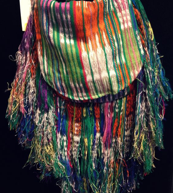 Colorful Bag with Fringe. made Fair Trade in Guatemala