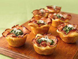 Ham Florentine Mini-Cups