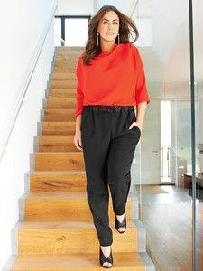 burda style: Damen - Plus (bis Größe 60) - Hosen & Overalls - Jersey-Hose - Jogging-Stil