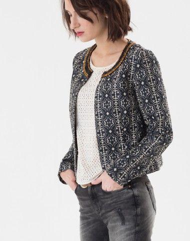 veste femme veste en cuir jean lin courte veste de tailleur vestes femme 1 2 3 mode. Black Bedroom Furniture Sets. Home Design Ideas
