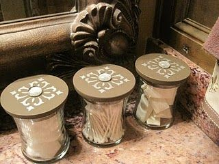 reuse old candle jars... These are Woodwick candles I can tell :-P love those, and I would add a knob on the lid too!