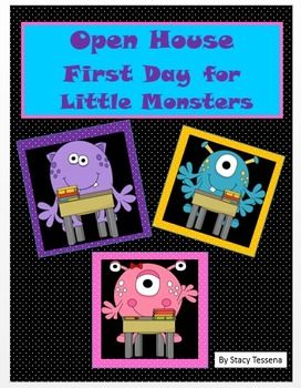 Open House and First Day of School Little Monsters