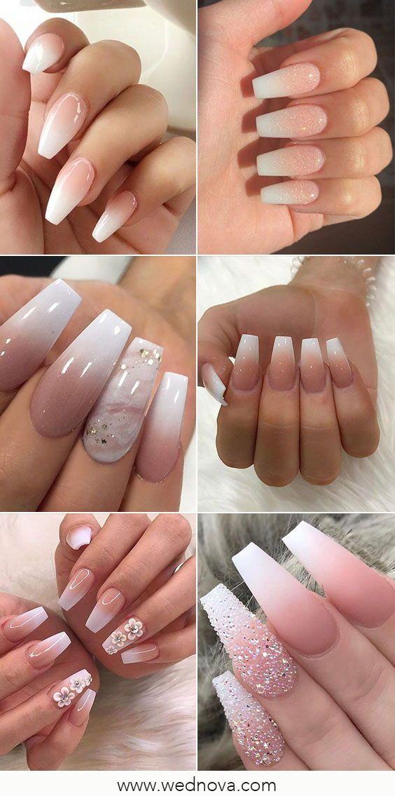 15 Wedding Nail Design Ideas To Consider Before Getting Hitched Wedding Nails Design Bridal Nail Art Bridal Nails