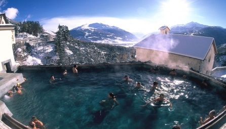 Bormio, Italy... skiing great, food amazing, but natural hot springs the BEST... fit for Kings & Queens!