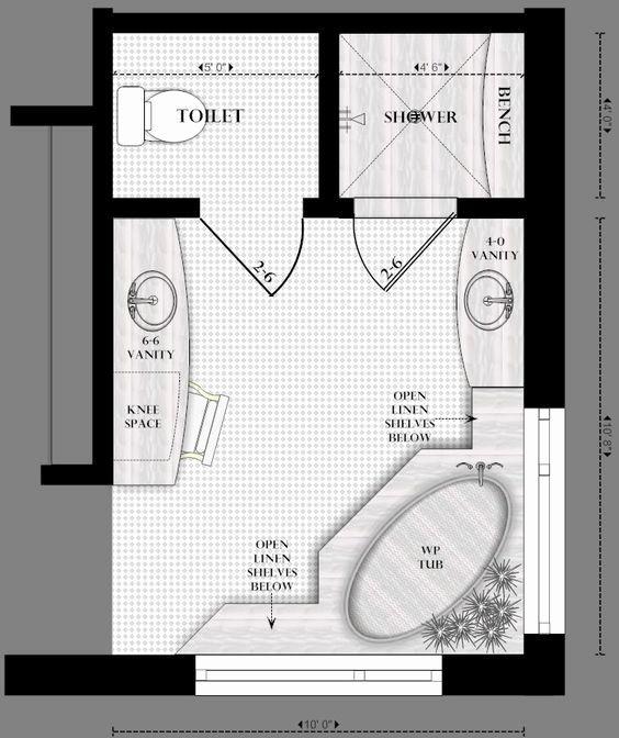 Master Bathroom Floor Plans Unique Master Bathroom Floor Plans Denah Rumah Rumah