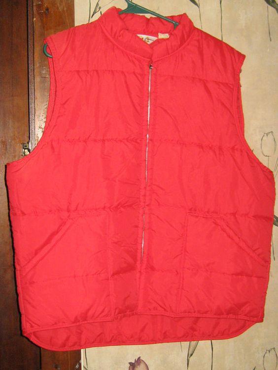 1970  David James Sportswear  retro red Ski by Linsvintageboutique, $34.50