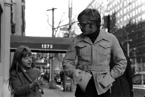 Robert Redford & his daughter, Shauna - 1969: