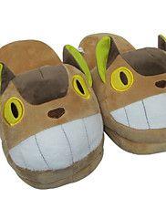 Pantofole Carattere Vello di corallo Scarpe Kigurumi Pigiama Sleepwear Animal Marrone Tinta unitaHalloween / Natale / Giornata universale