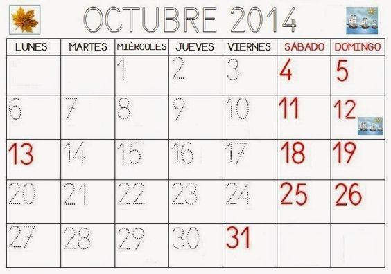 COSITAS PARA EL COLE: CALENDARIO PARA REPASAR CURSO 2014-2015