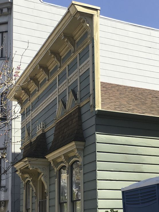 False Front Of A Victorian Facade Lower Pacific Heights San Francisco Ca San Francisco California Pacific Heights San