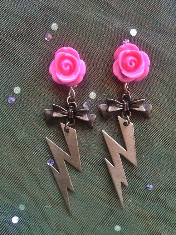 Ready to Ship, Lightning Bolt Earrings Handmade on Etsy, $13.73 CAD