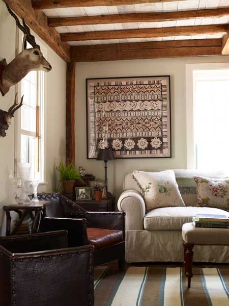 Transitional Rustic Living Room Taylor Interior Design Www