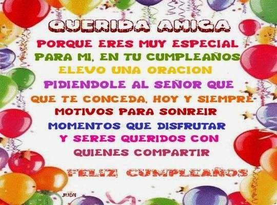 Tarjeta de cumpleaños para una amiga especial CUMPLEA u00d1OS!! Pinterest