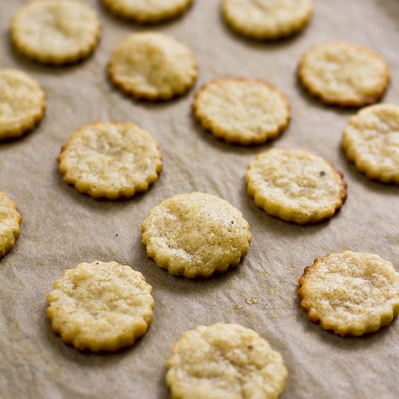 So pretty and delicate looking- Gluten-Free Parmesan Crackers