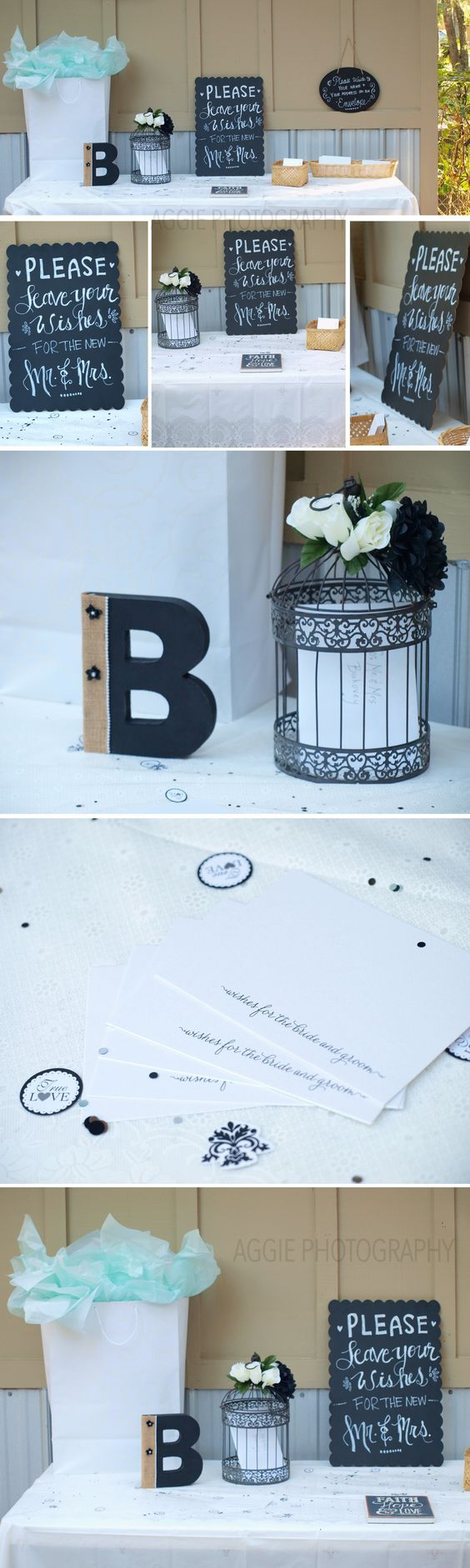 Teal, Black and White Bridal wedding colors :) Loved this combination!