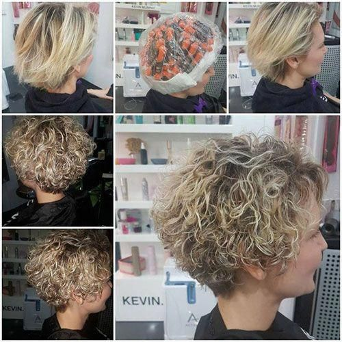 Short Curly Hairstyles For Women Over 40 Shorthairstylesforwomen Permed Hairstyles Thick Hair Styles Short Permed Hair