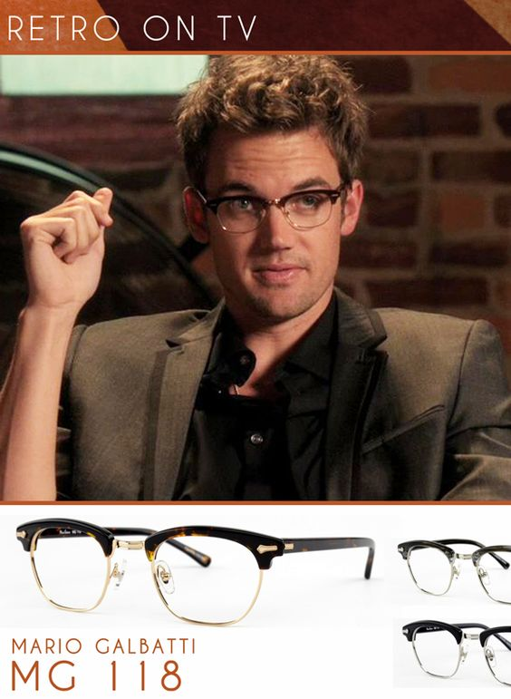 Singer/Actor Tyler Hilton goes retro executive style on the set of TV show 'One Tree Hill' as Chris Keller. He confidently wears vintage inspired glasses very similar to Mario Galbatti's MG-118. See it up close here: MG-118.