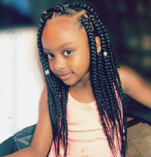 Cute Braids With Beads Hairstyles For Little Girls Black Kids