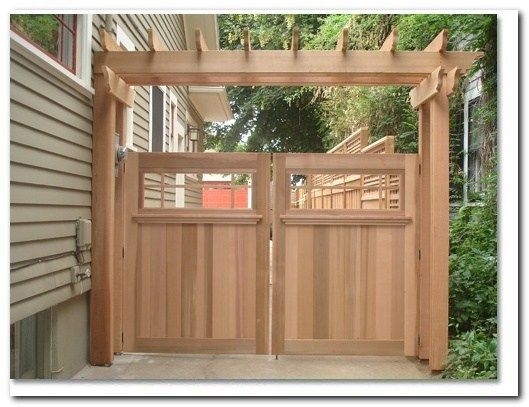 50 Classic Wooden Gates Will Make Your Home Look Great Wood
