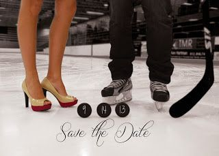 My very own hockey-themed Save the Date wedding invitation! #hockeywedding #savethedate #hockeysavethedate