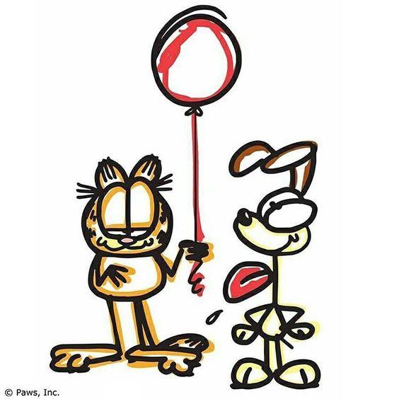 Vivir es más simple de lo que parece... nosotros lo complicamos todo.   #Garfield #GarfieldFovers