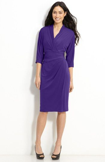 Suzi Chin for Maggy Boutique Faux Wrap Jersey Dress available at #Nordstrom Item #364554 ($58.80)