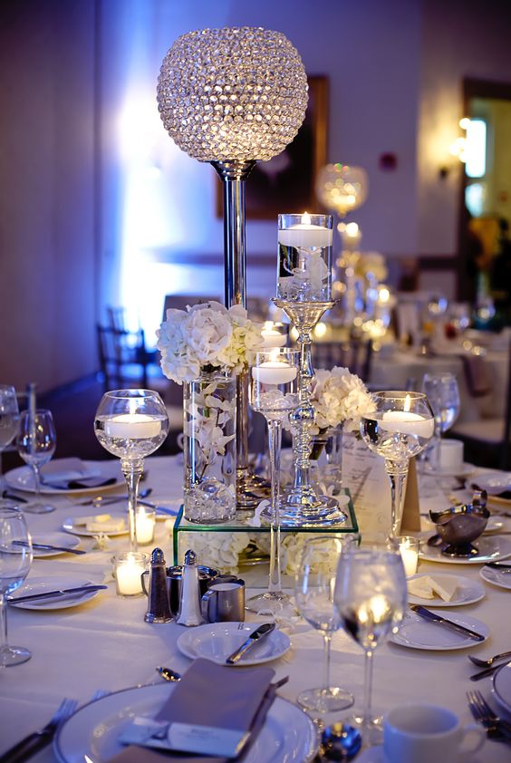Beautiful table decor at belvedere events banquets