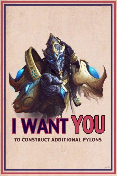 protoss poster #SC2 #protoss