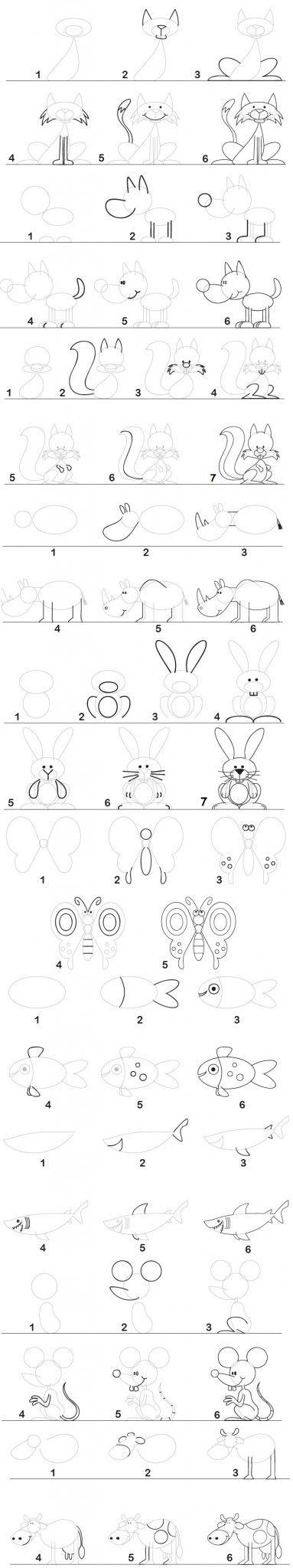 un fichier de dessins par étapes: