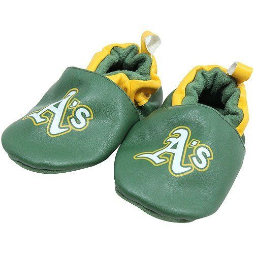 MLB Oakland Athletics Infant Booties - Green by Football Fanatics. $12.95. Oakland Athletics Infant Booties - GreenImportedSoft, cushioned insideElastic openingMan-made materialsOfficially licensed MLB productTextile bottomMan-made materialsTextile bottomSoft, cushioned insideElastic openingImportedOfficially licensed MLB product