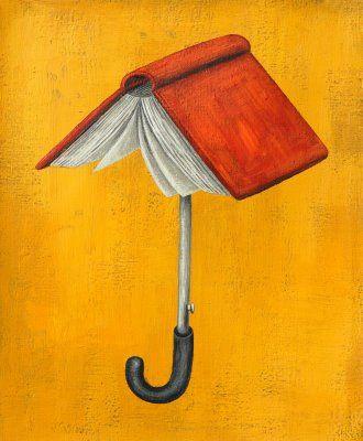 """""""The book: an umbrella against ignorance"""" El #libro como paraguas de la ignorancia"""
